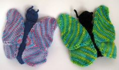 ChemKnits: Butterfly Finger Puppet Knitting Pattern