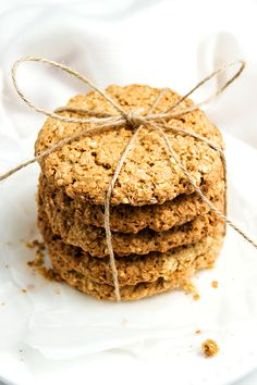 Peanut butter oat cookies with brown sugar