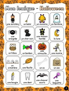 myFrench.ie | Joyeux Halloween!! Vocabulaire | French Teaching ...