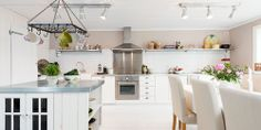 bright+white+swedish+scandinavian+kitchen+ideas Romantic Scandinavian Summer House