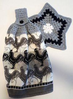 Crochet Towel Holders, Crochet Dish Towels, Crochet Towel Topper, Crochet Kitchen Towels, Crochet Dishcloths, Crochet Home, Crochet Gifts, Knit Crochet, Loom Knitting Projects