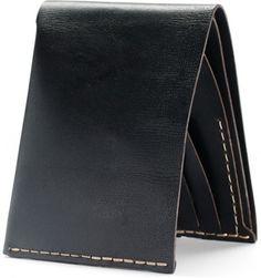 No. 8 Wallet in Jet Top Stitch | Bison Made
