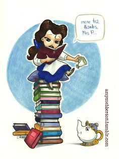 belle, books, disney, beauty and the beast