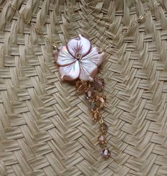 Carved Abalone Shell Plumeria Necklace by fortheloveofplumeria, $45.00