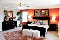 #HomeChannelTV - master bedroom with pop of color