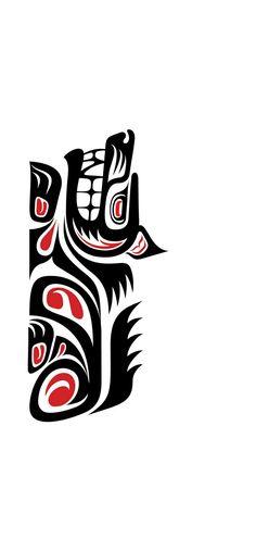 Native American Symbols, Native American Design, Native Design, Arte Haida, Haida Art, Lobo Tribal, Tribal Art, Tatuagem Haida, Haida Tattoo