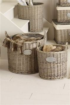 Natural wicker baskets from Next