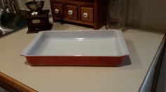 Red/Rust Pyrex Lasagna Pan by OurVintageNest on Etsy