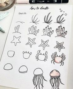 60 doodle tutorials for your Bullet Journal - reb . - 60 doodle tutorials for your Bullet Journal – reb … – - Bullet Journal 2019, Bullet Journal Aesthetic, Bullet Journal Notebook, Bullet Journal Ideas Pages, Bullet Journal Inspiration, Bullet Journals, Doodle Drawings, Easy Drawings, Doodle Art Journals