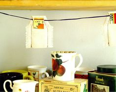 Kitchen Bunting Tea Bags Garland Banner Decor. $40.00, via Etsy.