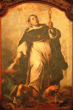 Saint Thomas Aquinas Trampling on the Heresies by Michel ...