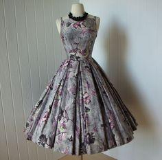 vintage 1950s dress ...fabulous harzfeld's silver by traven7
