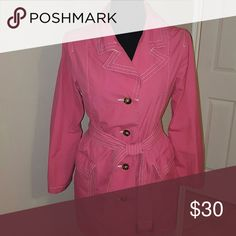 Spring Trench Jacket Lightweight; belted with tortoise-shell buttons; two deep front pockets; labeled as a maternity item, but fits non-maternity medium frame just as well?? Old Navy Jackets & Coats Trench Coats