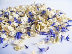Something Blue Delphinium and Cornflower Petals