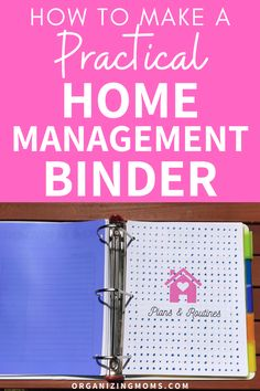 How to make a practical home management binder that simplifies your to-do list. A must-have home management tool for every household. #Organizing #ProductivityTips #organizingmoms Organize Your Life, Organizing Your Home, Organizing Tips, Eye Tricks, Home Binder, Home Management Binder, Organized Mom, Binder Organization, Design Your Home