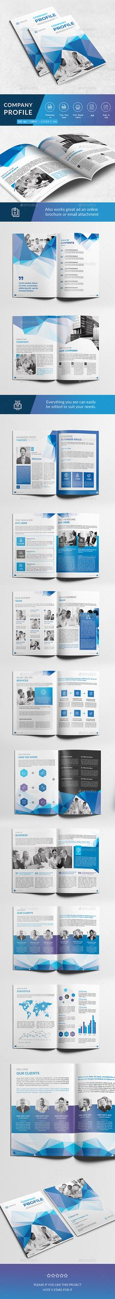 Multipurpose Company Profile \u2014 InDesign Template \u2022 Only available