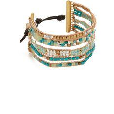 Nakamol Christy Bracelet ($58) ❤ liked on Polyvore featuring jewelry, bracelets, bohemian bangles, boho chic jewelry, bohemian jewellery, nakamol and button jewelry