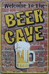 Beer Cave - Tin Sign $28