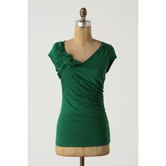 idea for diy Anthropologie Green The Gathering Shirt
