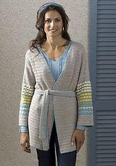Ravelry: Napa Belted Jacket pattern by Susan Shildmyer