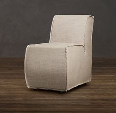 """Bruno Upholstered Dining Chair Narrow 
