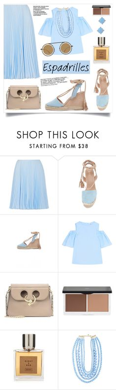 """Step into Summer: Espadrilles"" by alinepinkskirt on Polyvore featuring Prada, Iris & Ink, J.W. Anderson, Lily Lolo, Eight & Bob, BaubleBar, Vera Bradley and Mykita"