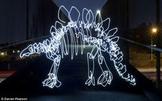 Incredible pictures show dinosaurs created in thin air with a ...