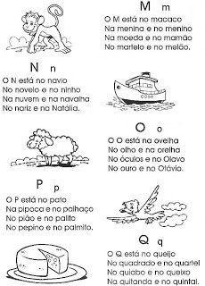 Alfabeto com iniciais (com desenhos) - Atividades de Alfabetização