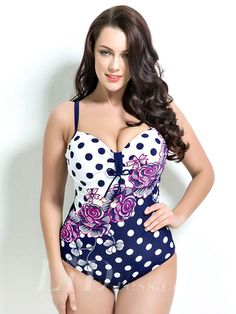 Print Plus Size One-Picec Swimwear Lidyy1605201038