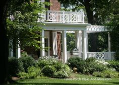 Small front porch and pergola addition. Found on Front-Porch-Ideas-and-More.com #porch