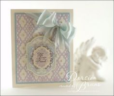 JustRite Card designed by Darsie Bruno using Spring Rose Medallions and Classic Lace Edges One