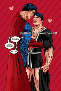 Biztos vagyok benne, hogy hamarosan azt fogja mondani, hogy 'Hell yes' # boyxboy # mikado Gay Comics, Batman Comics, Manga Comics, Funny Comics, Batman Y Superman, Superman Family, Superbat, Clark Kent, Manx