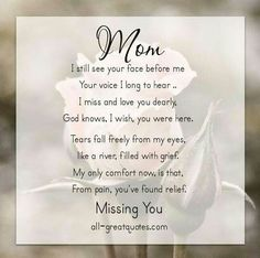143 Best Missing Mom Dad Images In 2019 Thoughts Miss You Messages
