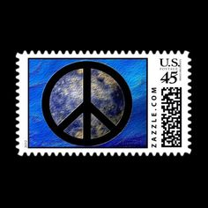Peace Sign Postage Stamps   Official BlogBlast4Peace logo on a United States First Class postage stamp Sheet of 20 stamps ~ Get stationery to match! http://zazzle.com/blogblast4peace#  $21.35