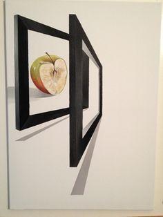 "Saatchi Online Artist Eka Peradze; Painting, ""Apple.#2. 50x70cm."" #art"