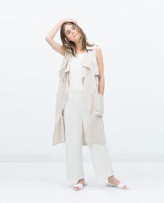 Zara LONG WAISTCOAT $79.90