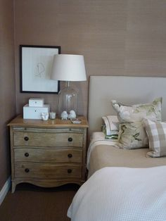 Dresser as side table.