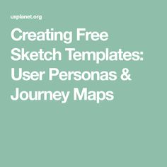 User personas are representations of major user groups, created in product or service design projects. Journey Mapping, User Experience, Service Design, Design Projects, Templates, Create, Maps, Sketch, People