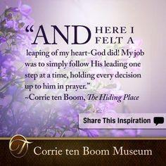 Corrie ten Boom on Pinterest | Corrie Ten Boom, Christian Women and P ...