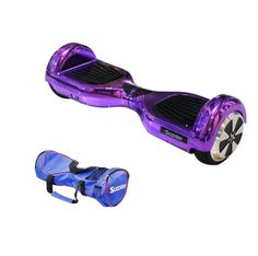 Purple Electric Hoverboard Monorover Scooter with Carrying Case!