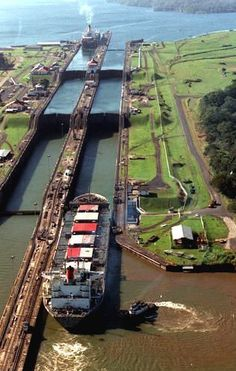 The Panama Canal. This, of course, runs straight through Panama.  With the creation of this canal ships no longer had to travel all the way around South America.  Which shortened the trip considerably!