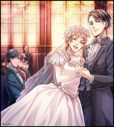 Vincent Phantomhive and Rachel Phantomhive's wedding