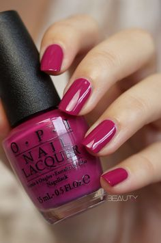 Image result for deep pink nail polish