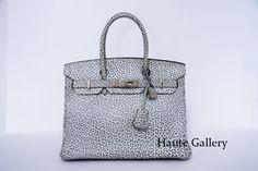 Hermes Birkin Bag: Hermes Birkin 30cm in Black and White Dalmatian Bu...