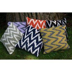 In2Green Zig Zag Eco Friendly Pillow - PLZ; in the gray