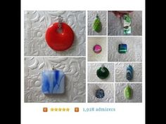 Dichroic Glass Pendants, Fused Glass, Stained Glass by feesfusions #integritytt #tyvm https://www.etsy.com/shop/feesfusions