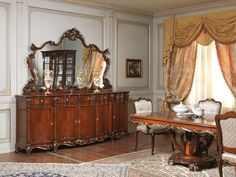 Sideboard with mirror and table of the Paris classic luxury furniture collection…