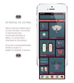 Prague Zoo App by Alina Kotova, via Behance