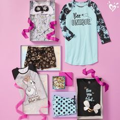 Fun, adorable prints she's sure to love. Justice Girls Clothes, Girls Sports Clothes, Justice Clothing, Girls Fashion Clothes, Justice Outfits, Kids Fashion, Fashion Outfits, Cute Girl Outfits, Dance Outfits