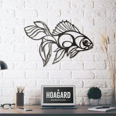 Metal Deco - Golden Fish
